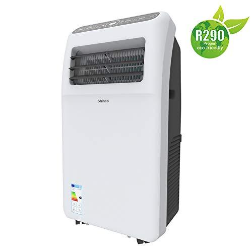 SHINCO 3,5kW Climatiseur Mobile 12000 BTU Climatiseur Portable, Déshumidificateur, Ventilateur, De 16 à 30°C, Set Isolation...