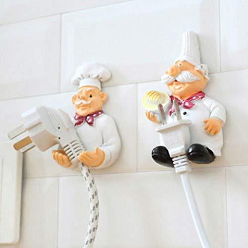 aifengxiandonglingbaihuo kabelhaak ophangbeugel organisator netkabel opslagrek chef-design wandmontage lijm keuken fitting houder Fuß