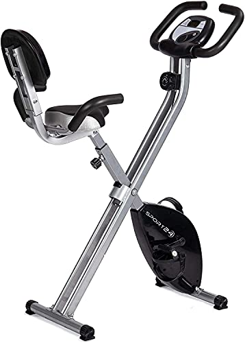SPORT24 Folding Foldable Upright Exercise Bike Bicycle for Indoor Home Gym Fitness Cycle (Bike (2021))