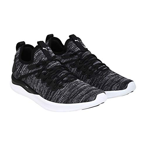 Puma Herren Ignite Flash Evoknit Cross-Trainer, Schwarz (Puma Black-Asphalt-Puma White 02), 47 EU