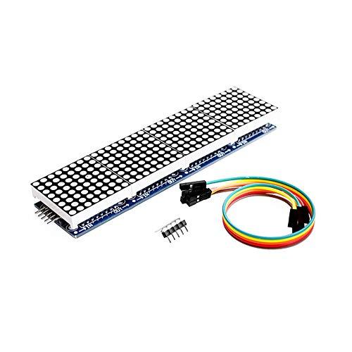 TOOGOO Max7219 4 in 1 Display Mikro Kontroller 5P Leitungs Modul für Arduino Punkte Matrix