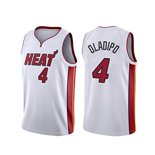 USSU Camiseta de baloncesto 2021 para hombre, sin mangas, 4 # Ola, para entrenamiento, color blanco, XL