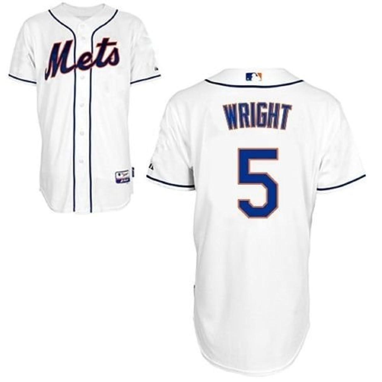 Majestic York Mets David Wright #5 MLB Cool Base Replica Mens White Jersey Big & Tall Sizes