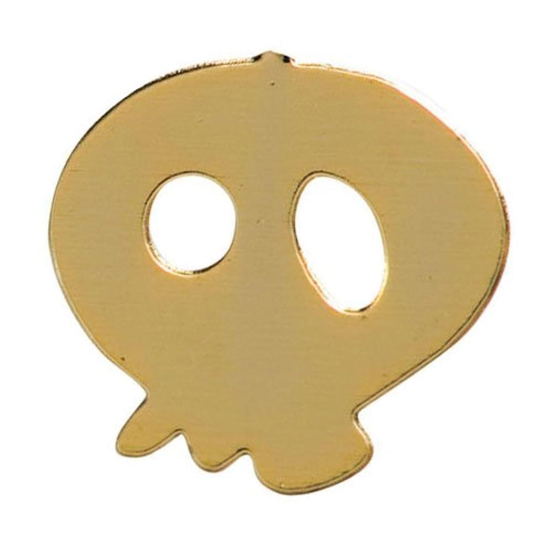 ウォルターカニンガム狂う定期的なリトルプリティー ネイルアートパーツ スカル ゴールド 10個