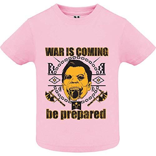 LookMyKase T-Shirt - World War - Bébé Fille - Rose - 2ans