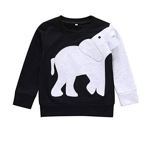 Vrouw peuter/meisjes/jongens olifant T-shirt katoen cartoon auto patroon lange mouwen shirts top pullover maat