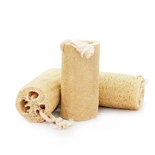 Natural loofah Granja esponja orgánica lufa Natural de vegetal Limpieza de la piel exfoliación de cuerpo de spa Limpiar Tazón Plato de lavado de múltiples funciones((set of 3 pieces))