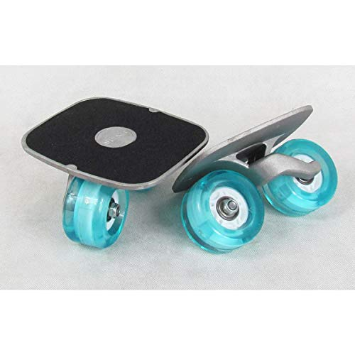 Drift Skate Plates mit Portable Roller Road Cool All-in-one Aluminum Alloy Anti-Slip Board mit Board Split Skateboard mit PU Wheels High-End-Lager,SkyBlue