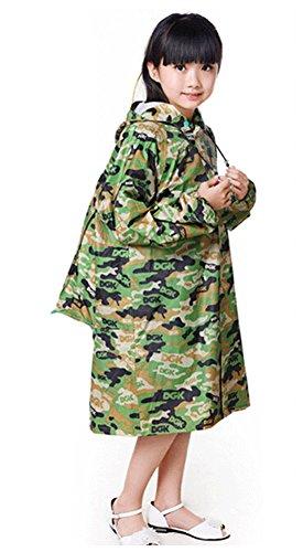 coréen mignon enfant imperméable Mode enfants pluie Camouflage vert M