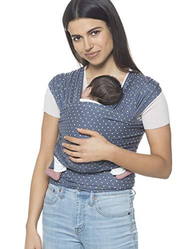 Ergobaby Babytragetuch für Neugeborene ab Geburt, Coral Dots Baby Tragetuch Elastisch Atmungsaktiv, Sling aus 100% Viskose