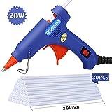 Hot Glue Gun,Blusmart Upgraded Version Glue Gun with 30pcs Glue Sticks, 20W Mini