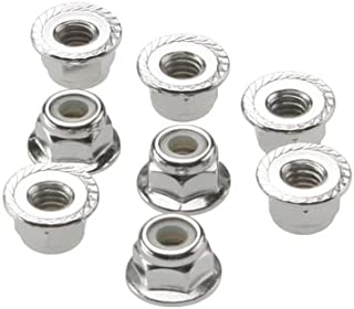 Traxxas 3647 Flanged Nylon Lock Nuts, 4mm (Set of 8)