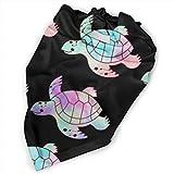 Bandana mignon pour chiot et animal domestique, motif tortues de mer, noir, triangle, foulard, foulard, foulard tendance pour filles, garçons, animaux de compagnie