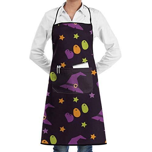 Pag Crane Cartoon-Stil für Halloween-Schürze Küche Kochen Backen BBQ Schürze für Männer und Frauen Kochen Schürze