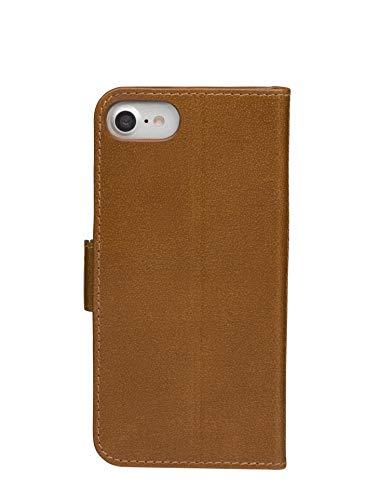 dbramante1928 - Copenhagen Slim Hülle für iPhone SE/8/7/6 - Klapphülle aus robustem, hochwertigem Leder - Mit Kartenfach und Standfunktion - Braun