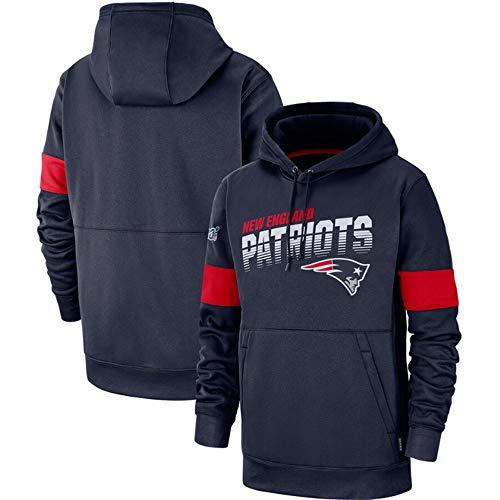 SHR-GCHAO NFL Jerseyhoodie New England Patriots, Fußball Kleidung Langarm-Beiläufige Bequeme Sweatshirt, Angenehm Zu Tragen, Centennial,L(170~175cm)