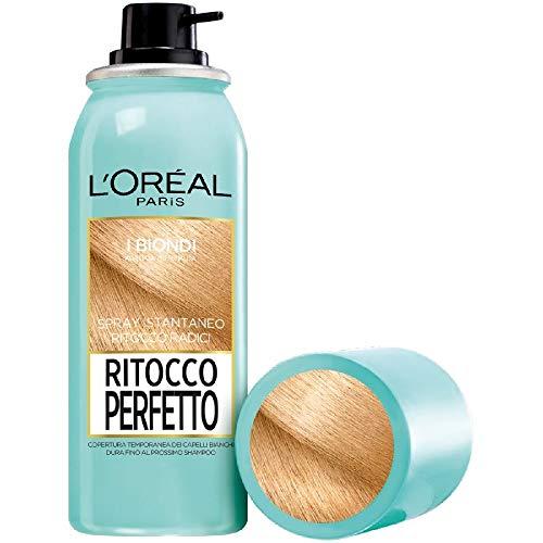 L'Oréal Paris Ritocco Perfetto, Spray Istantaneo Correttore per Radici e Capelli Bianchi, Colore: Biondo, 75 ml