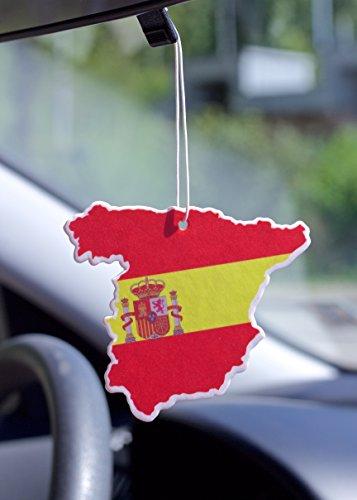 Fresh Duft Duftbaum Lufterfrischer Weltmeisterschaft WM 2018 Flagge Spanien für Das Auto Geruch Vanille