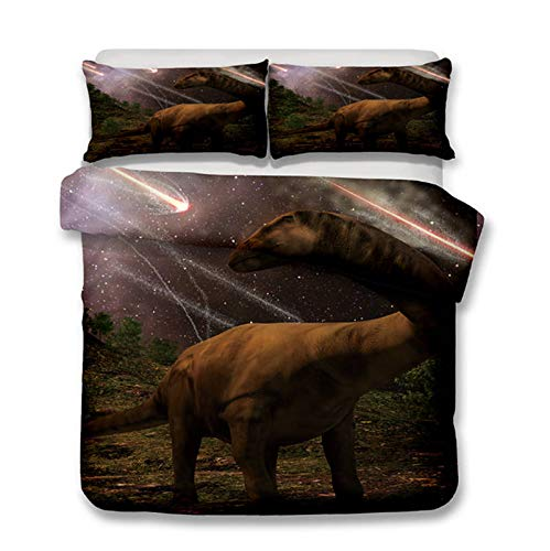 Qiutian Park dinosaurus bed set jongen beddengoed kinderen beddengoed 3D bed dekbedovertrek jeugd tweepersoonsbed beddengoed 140x210cm 04