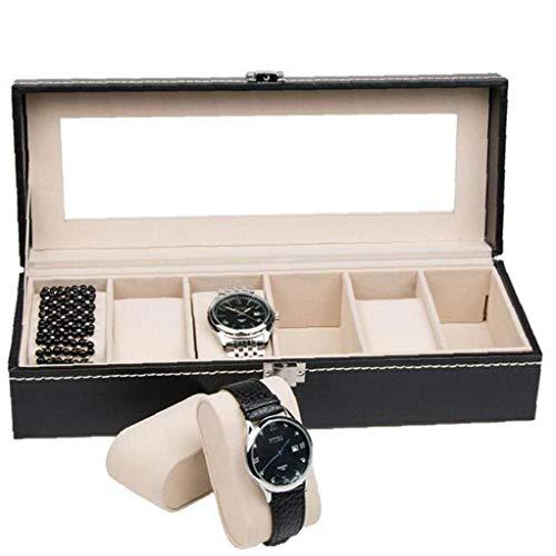 PiniceCore Caja De Reloj Organizador para Hombres Y Mujeres - Se Joyería Caja De Reloj del Sostenedor del Almacenaje del Colector De Lujo