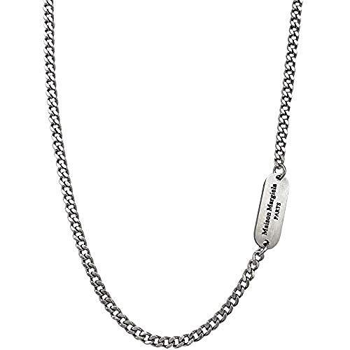 Aluyouqi Co.,ltd Collar de Cadena de la Marca de comerciante Collar de los Hombres