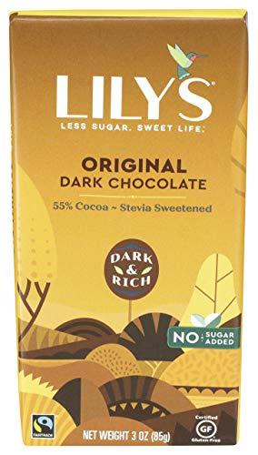 Lily's Sweets Dark Chocolate bar, Original, 3 Oz