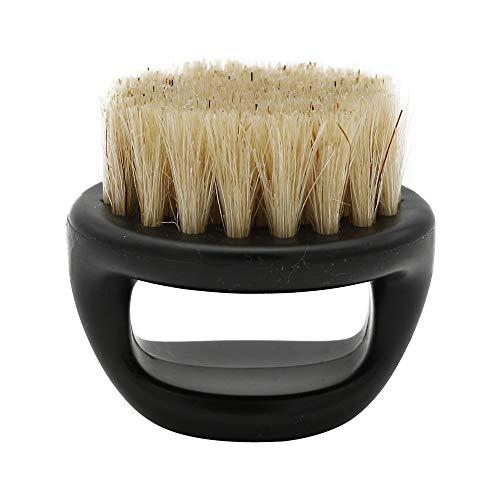 Yazidan Männer Bartbürste aus Walnussholz und Wildschweinborsten für die tägliche Bartpflege | Beseitigt abstehendes und ausgefranstes Haar |Optimal in Kombination mit Bartöl und Bartwachs