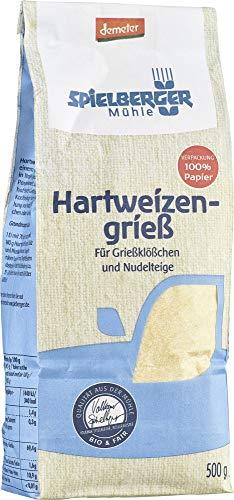 Spielberger Bio Hartweizengrieß, demeter (6 x 500 gr)