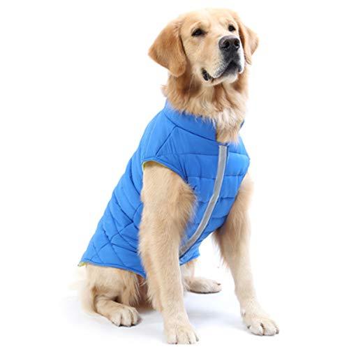 TFENG Hundemantel Hundejacke für Hunde Welpen, Gepolstert Puffer Umkehrbares Design Weste Regenmantel, Größe XXL