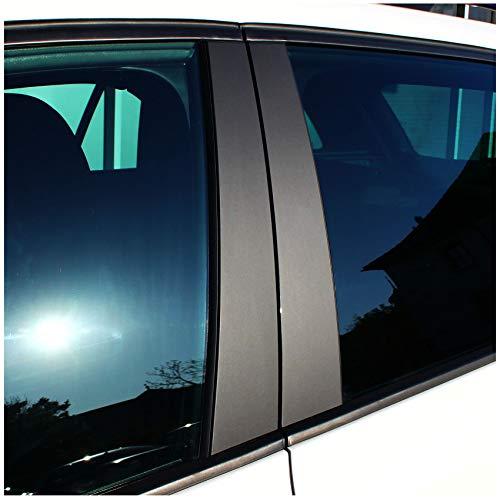 AlphaShield Lackschutz Folie Set für B C Säule Zierblenden Aufkleber Auto Selbstklebend Zubehör Passgenaue Klebefolie (90µm 3M 2080 Matt Schwarz, Vorfacelift FX04)