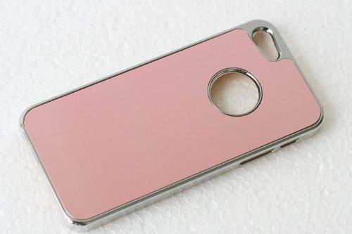 Unbekannt Cover Housse de Protection Luxueuse de Terminal pour Apple iPhone 5 de téléphone Portable de téléphone Portable de Cas Cas Métal Chrome en Aluminium brossé Rose Clair étui Rigide de