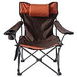 Newslly - Silla para Acampar al Aire Libre con Respaldo Lumbar, sillas de césped Acolchadas de Gran tamaño, Silla Plegable con Brazos cuádruples para Adultos, para Viajes, Picnic, Senderismo
