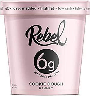 Rebel Ice Cream - Low Carb, Keto - Cookie Dough (8 Count)