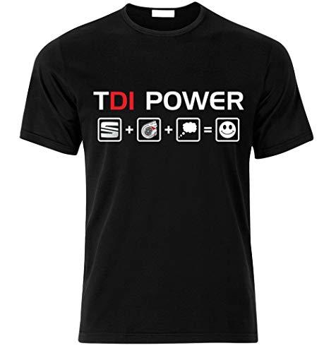 T-Shirt Summer Style Funny SEAT TDI Diesel Power Leon Ibiza Cupra T Shirt T-Shirt Tuning S/m/l/XL/XXL Tee