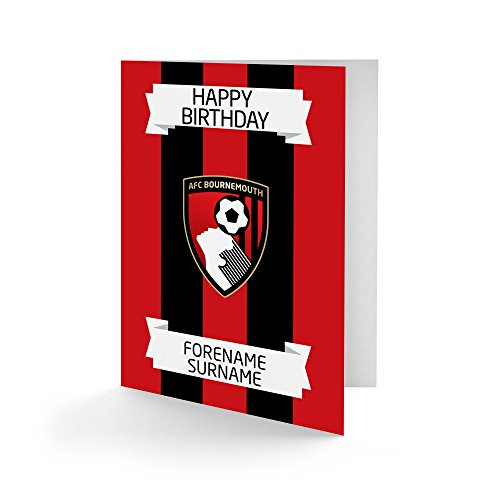 AFC Bournemouth Official Personalised Crest Birthday Card