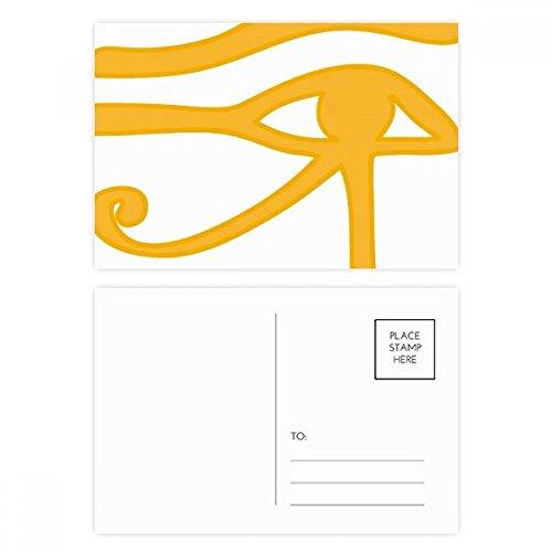 DIYthinker Altes Ägypten-Augen-Dekoration Muster Postkartenset Geburtstag dankt Karte Mailing Side 20pcs 5.7 Zoll x 3.8 Zoll Mehrfarbig