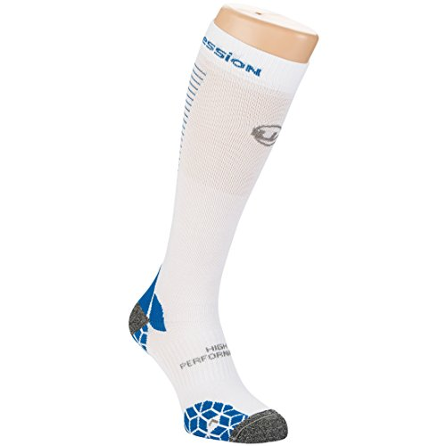 Ultrasport Socken Kompression, Weiß/Blau, 47-50