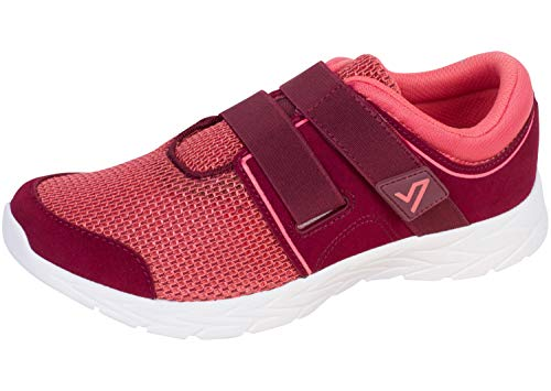 Vionic Women's Brisk Ema Slip On Lesire Shoes - Casual Walking Shoes with Concealed Orthotic Arch Support 6.5 M US Merlot