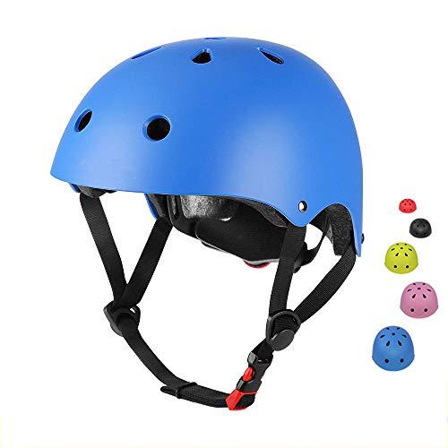 SLA-SHOP Kinderhelm für Jungen und Mädchen, verstellbar, bequem, für Roller, Roller, Skateboard, Fahrrad (3–8 Jahre) (Blau)