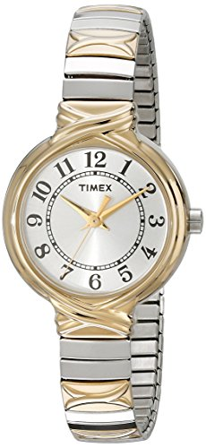 Timex Women's T2N979 Sierra Street Two-Tone Stainless Steel Expansion Band Watch
