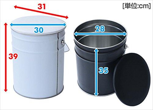山善収納スツール幅31×奥行31×高さ39cmペール缶北欧取っ手・クッション付き床に傷がつきにくい完成品グリーンCS-31(GR)