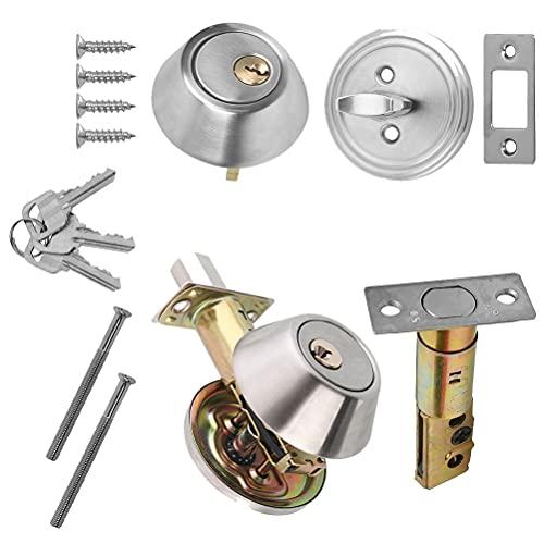 Security Door Lock with Key Round Single Cylinder Deadbolt Security Door...