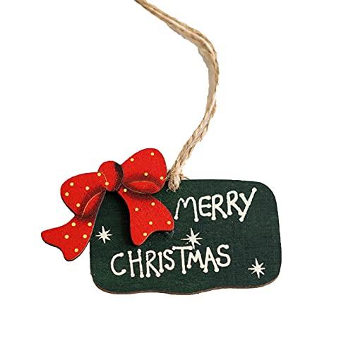 Leadrop Decoración de Navidad, colgante de madera, adorno de árbol de Navidad para decoración festiva de la pared del hogar o de la ventana de regalo para niños