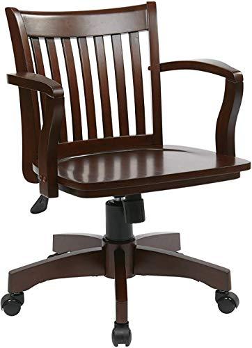 Muebles para el hogar Silla de Escritorio de Madera de Lujo con Asiento de MaderaEspresso