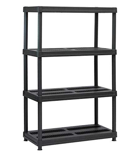 Topeakmart 5 Tier Storage Rack Heavy Duty Adjustable Garage Shelf Steel Shelving Unit,71in Height, 2 Bay Garage Shelf