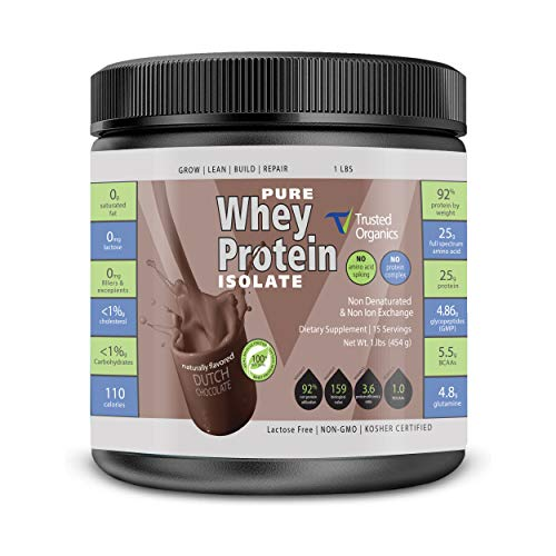 Amazon's Brand Non-GMO Pure Whey Protein Isolate: Instanized to Easy Mixing: Lactose Free: Kosher Certified: Naturally Flavored: Sweetened by Stevia: Gluten Free: Highest BCAAs and Glutamines