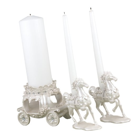 Hortense B. Hewitt Wedding Accessories, Unity Candle Stand, Once Upon a Time, 3 Pieces