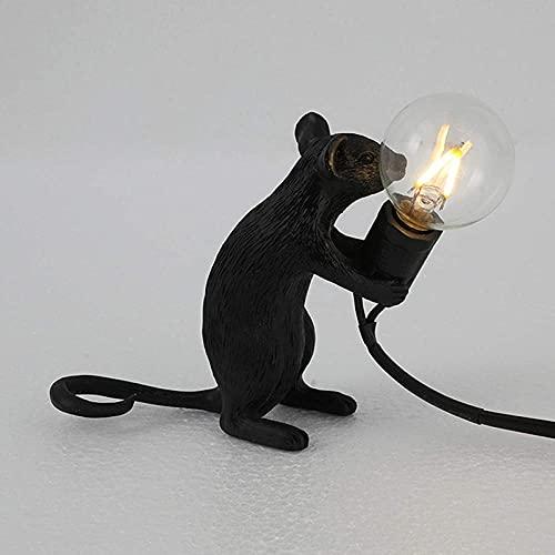 Lámpara de mesa con forma de ratón, resina para escritorio, lámpara de noche, decoración...