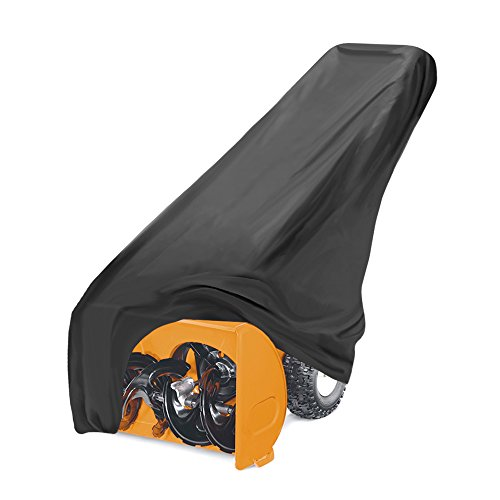 Universal Snow Blower Protective Cover - Covers Large Electric Snow Blower Throwers Equipment w/ Storage Bag, Elastic Cord Hem For Snug Fit, Dirt Sun and All Weather Protection - Pyle PCVSNB30 (Black)