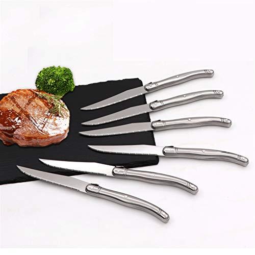 Cuchillos de mesa 6 unids de acero inoxidable de filete de cuchillas de cuchillo para cena cuchillo de acero inoxidable vajilla de vajilla Inoxidable